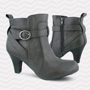 Madden Girl Gray Booties Sirren Size 8